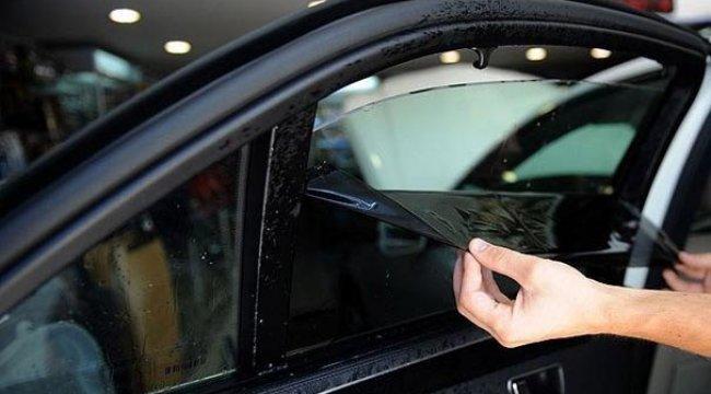 Arabalarda cam filmi ve renkli cama yeniden yasak geldi!