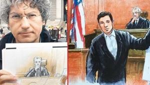 Zarrab davasının çizeri: New York'a turist olarak gelip, davayı izleyenler de var