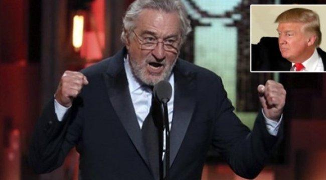 Robert De Niro, Donald Trump'a küfür etti