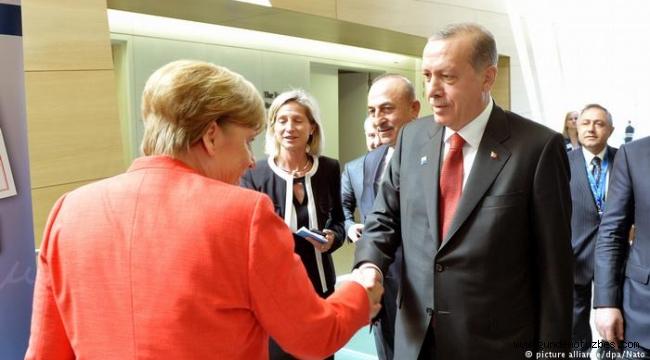 Cumhurbaşkanı Erdoğan, Almanya Başkanı Merkel ile görüştü