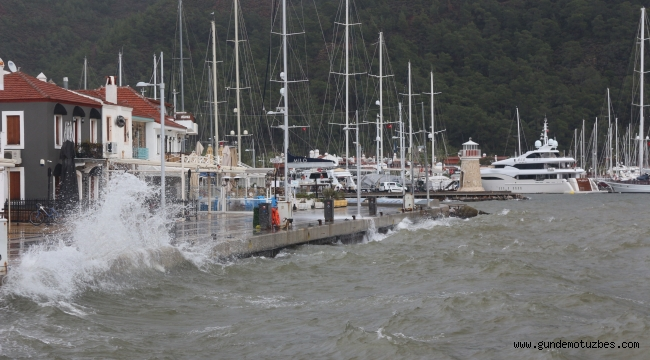 Marmaris'e son 24 saatte metrekareye 41 kilogram yağış düştü