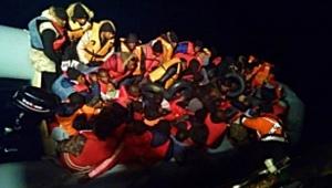 Seferihisar'da 64 göçmen yakalandı