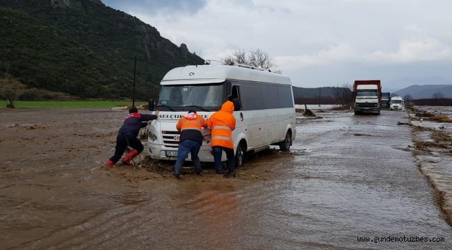 Tire'de sel felaketi, bölgede kriz masası kuruldu
