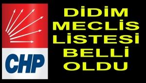 CHP DİDİM'DE MECLİS LİSTESİ BELLİ OLDU
