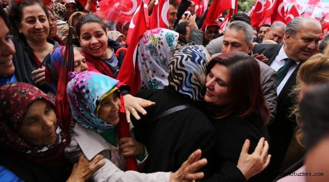Özlem Çerçioğlu, Bozdoğan seçim ofisini açtı