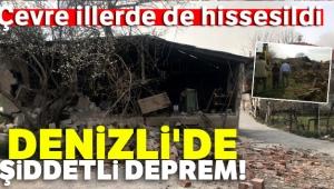 Son dakika... Denizli'de şiddetli deprem |Çevre illerde de hissedildi