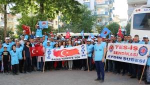 Aydın'da işçiler 1 Mayıs kutlamaları