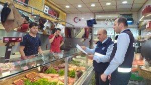 Bergama'da et ve et ürünü satan iş yerlerine denetim