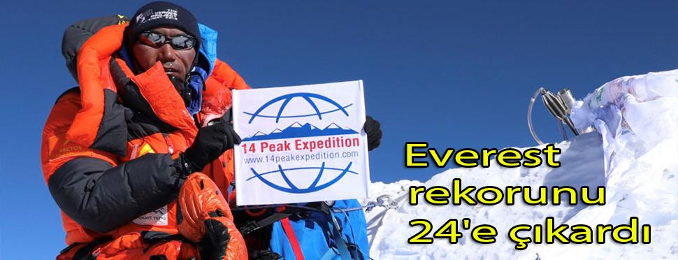 Bir hafta önce yine zirveyi görmüştü: Nepalli şerpa Everest rekorunu 24'e çıkardı
