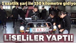 Liseliler 1 saatlik şarj ile 150 kilometre giden elektrikli araba yaptı