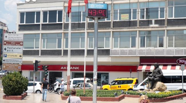 Aydın'da termometreler 43 dereceyi gösterdi