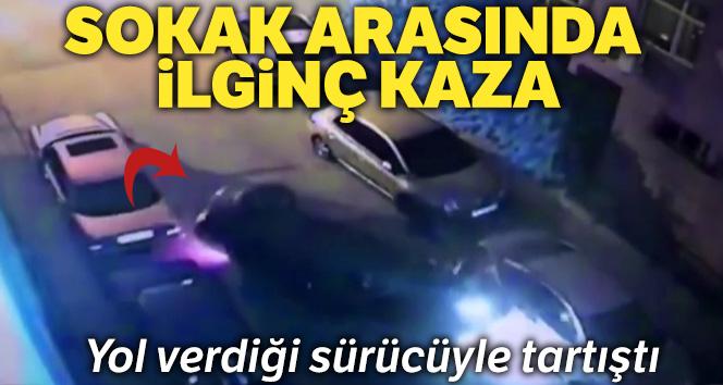 İstanbul'da yol verdiği sürücüyle tartıştı, araçlara çarparak takla attı