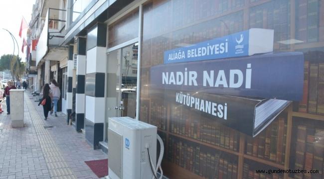 Nadir Nadi Kütüphanesi Aliağa Gençlik Merkezine taşınıyor