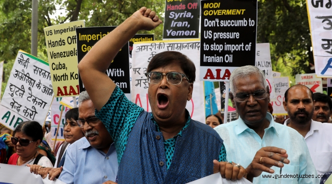 Pompeo'nun Hindistan ziyareti protesto edildi
