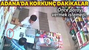 Bıçakla tehdit ettiği bakkalın 350 lirasını gasp etti