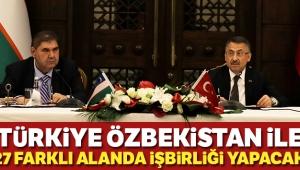 Cumhurbaşkanı Yardımcısı Fuat Oktay: Türkiye, Özbekistan ile 27 farklı alanda iş birliği yapacak