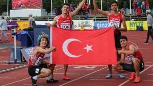 Genç atletler tarih yazdı! Altın madalya rekorla geldi