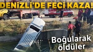 Otomobil sulama kanalına uçtu: 2 ölü!