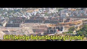 CHP'li belediye Bodrum'da talana göz yumdu!