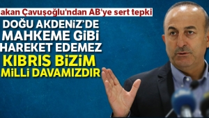Dışişleri Bakanı Çavuşoğlu'ndan AB'ye sert tepki
