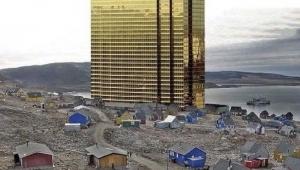 Trump, Grönland'a taktı: Devasa Trump Towers'ı photoshopla adanın ortasına kondurdu
