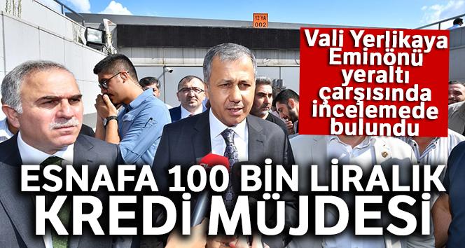 Vali Ali Yerlikaya, Eminönü yeraltı çarşısında incelemede bulundu