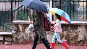 Aydın'da yağmur başladı