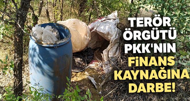 Terör örgütü PKK'nın finans kaynağına darbe: 1 ton esrar, 6 milyon 718 bin kenevir ele geçirildi