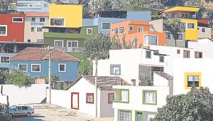 Yeşildere'deki evler rengarenk olacak