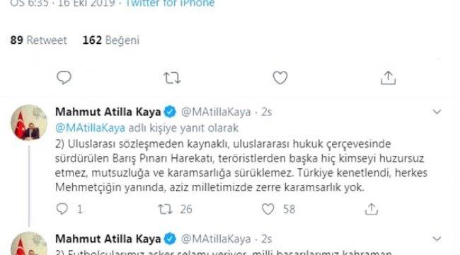 AK Parti'li Kaya'dan, Başkan Soyer'e tepki: Ortada savaş filan yoktur