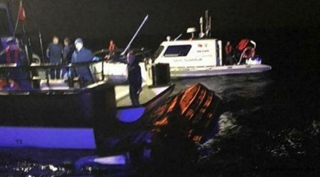 Ayvalık'ta göçmenleri taşıyan tekne battı