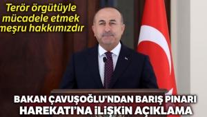 Bakan Çavuşoğlu, 'Terör örgütüyle mücadele etmek meşru hakkımızdır'