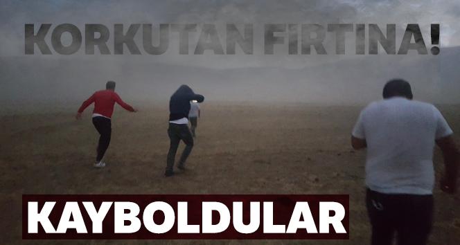 Bitlis'te korkutan fırtına
