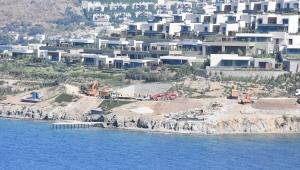 Bodrum'daki imara aykırı yapıların yıkımı sürüyor