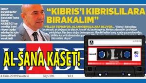 Kıbrıs Haberci gazetesinden Tunç Soyer savunmacısı İZMİR medyacılarına AŞKLA MEŞKLE yanıt! Bakalım Haberci'nin manşetini nerelerine koyacaklar?