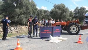 Muğla'da tırla çarpışan traktörün sürücüsü öldü