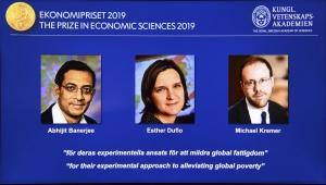 Nobel Ekonomi Ödülü, küresel yoksullukla mücadele çalışmalarına verildi