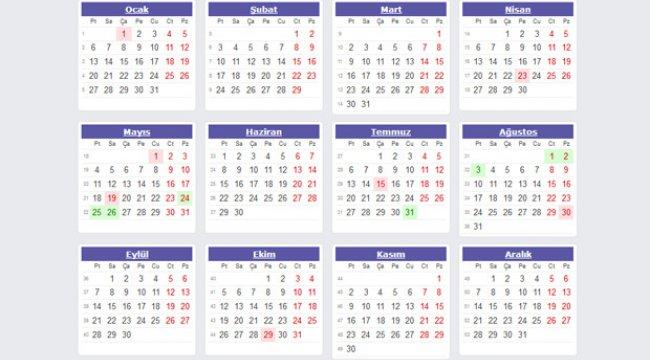 Resmi tatil günleri: 2020 yılında toplamda kaç gün tatil yapılacak?