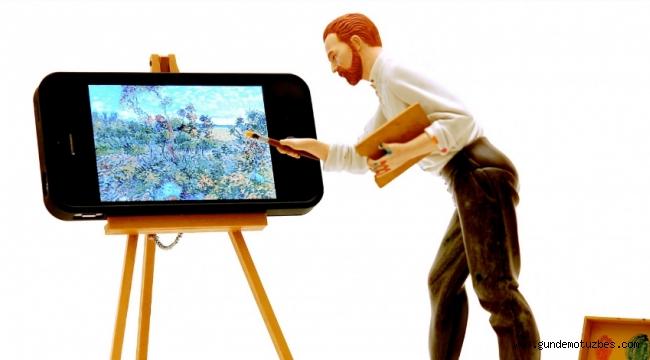 Ressamlara internet üzerinden tuval desteği!