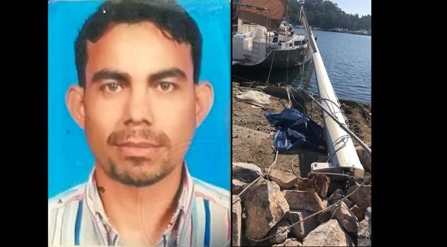 Bakımını yaptığı yelkenli teknenin direğinden düşen işçi öldü
