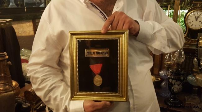 Denizli'de İstiklal Madalyası açık artırmada 650 liraya satıldı