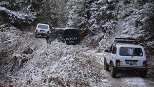 Demirci Dağları'nda off-road yaptılar