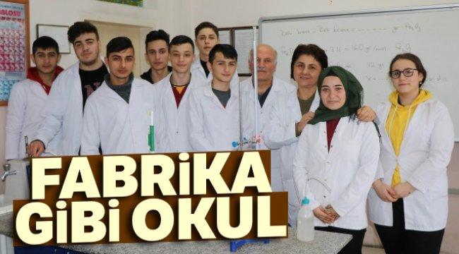 Fabrika gibi okul: 3,3 milyon TL ciro yaptı