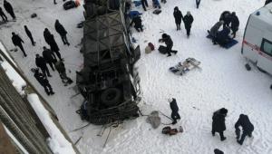 Rusya'da otobüs nehre uçtu: 15 ölü