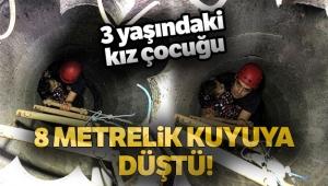 Arnavutköy'de 8 metrelik kuyuya düşen küçük kız itfaiye ekiplerince kurtarıldı