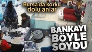 Bursa'daki banka soygun anı kamerada... Zanlı nefes kesen takip ve polisin müthiş operasyonuyla yakalandı