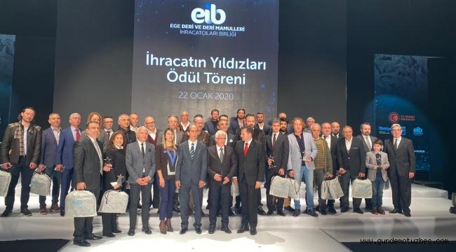 Deri sektöründe ihracatın yıldızı 36 firma ödüllendirildi