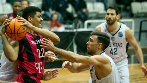 FIBA Basketbol Şampiyonlar Ligi: Beşiktaş Sompo Sigorta: 80 - Telekom Baskets Bonn: 76