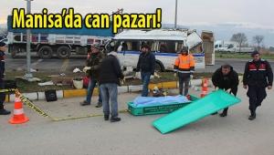 İşçi servisiyle kamyonet çarpıştı: 1 ölü, 24 yaralı