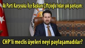Ak Parti Karşıyaka İlçe Başkanı Çiftçioğlu öyle bir paylaşım yaptı ki; CHP'li meclis üyelerinin birbirine girdikleri İnstagram hesabından duyurdu!